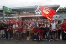 Fans in pit lane on Thursday