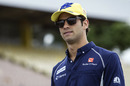 Felipe Nasr walks through the paddock