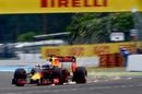 Sparks fly from Daniel Ricciardo's Red Bull