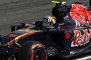 Carlos Sainz n on track in the Toro Rosso