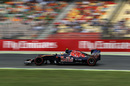 Carlos Sainz on track in Toro Rosso