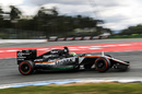 Nico Huldenberg on track in the Force India