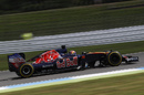 Daniil Kyat at speed in the Toro Rosso