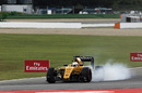 Jolyon Palmer pushes hard