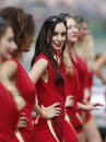 Grid girls pose ahead of the race