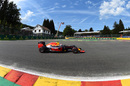 Max Verstappen works hard to keep its pace