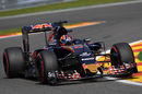 Daniil Kvyat turns into the corner