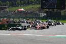 Kimi Raikkonen and Sebastian Vettel collide