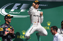 Nico Rosberg jumps for joy