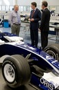 Peter Mandelson meets Patrick Head during his visit to the Williams factory