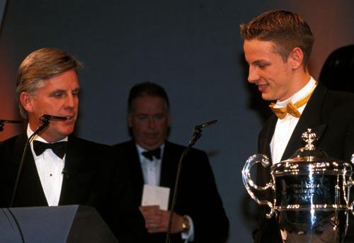 Jenson Button wins the McLaren Autosport BRDC Young Driver Award
