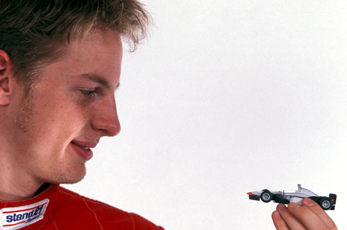 Formula Ford driver Jenson Button with his eyes on F1