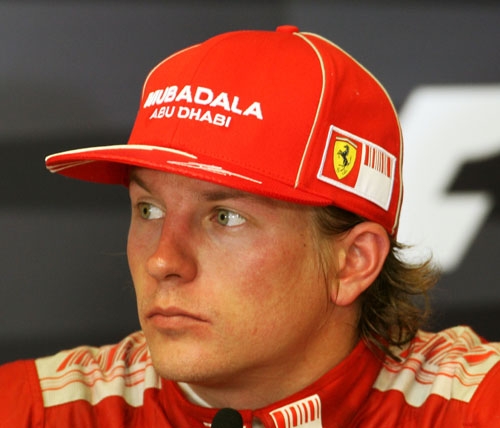 Kimi Raikkonen at the 2009 European Grand Prix