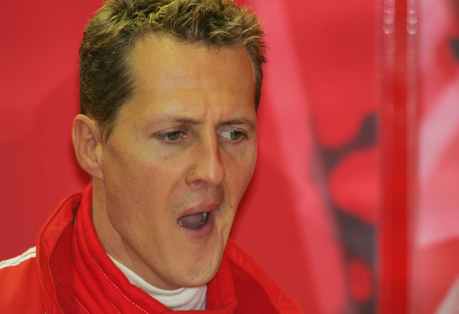 Michael Schumacher finds it all too exciting