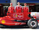 Ferrari shows off its livery celebrating 800 grands prix starts