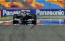 Michael Schumacher's Mercedes comes through a mirage