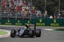 Sergio Perez approaches a corner