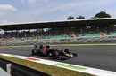 Carlos Sainz on track in the Toro Rosso