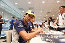 Felipe Nasr signs autographs for the fans