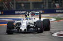Felipe Massa works hard to keep his pace