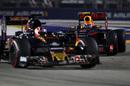 Max Verstappen puts pressure on Daniil Kvyat