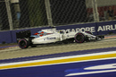 Felipe Massa works hard to keep pace
