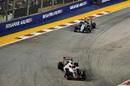 Esteban Gutierrez leads Sergio Perez