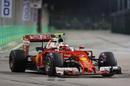 Kimi Raikkonen continues to push