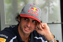 Carlos Sainz at the paddock