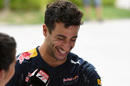 Daniel Ricciardo in relaxed mood during the interview