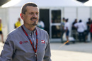 Guenther Steiner walks through the paddock