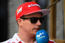 Kimi Raikkonen faces the press