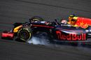 Max Verstappen locks up heavily