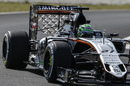 Nico Hulkenberg on track with aero sensor
