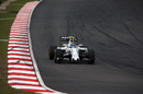 Valtteri Bottas behind the wheel of the Williams in qualifying