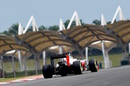 Esteban Gutierrez works hard to get the power