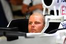Valtteri Bottas sits in the cockpit