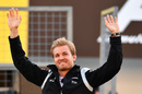 Nico Rosberg waves to fans