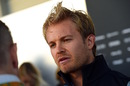 Nico Rosberg answers questions from media