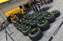 Pirelli tyres at the Renault garage