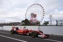Kimi Raikkonen returns to the pit