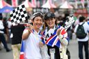 Fans on the race day in Suzuka