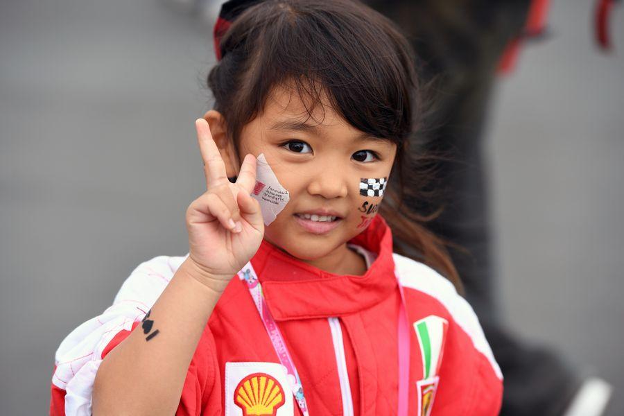 A little fan in Suzuka