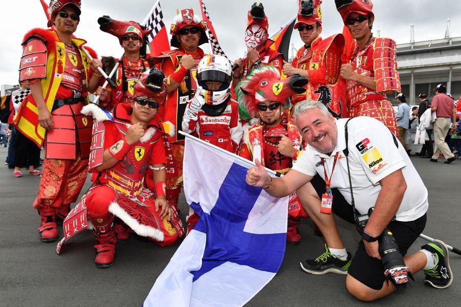Mark Sutton and Ferrari fans