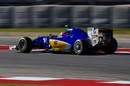 Felipe Nasr puts on soft tyres