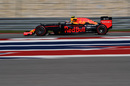 Max Verstappen at speed in the Red Bull