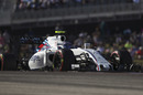 Valtteri Bottas works hard to keep his pace