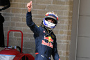 Daniel Ricciardo poses in parc ferme after qualifying third