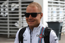Valtteri Bottas arrives the paddock
