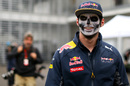 Max Verstappen with Day Of The Dead face paint